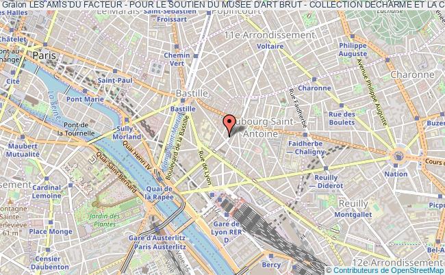 plan association Les Amis Du Facteur - Pour Le Soutien Du Musee D'art Brut - Collection Decharme Et La Conservation Du Palais Ideal Du Facteur Cheval Paris