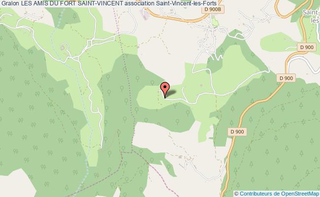 plan association Les Amis Du Fort Saint-vincent Saint-Vincent-les-Forts