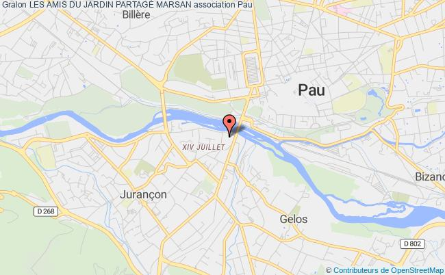 plan association Les Amis Du Jardin PartagÉ Marsan Pau