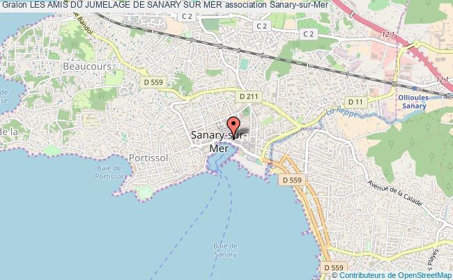 plan association Les Amis Du Jumelage De Sanary Sur Mer