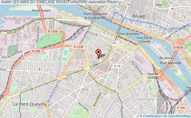 plan association Les Amis Du Jumelage Rouen Hanovre Rouen