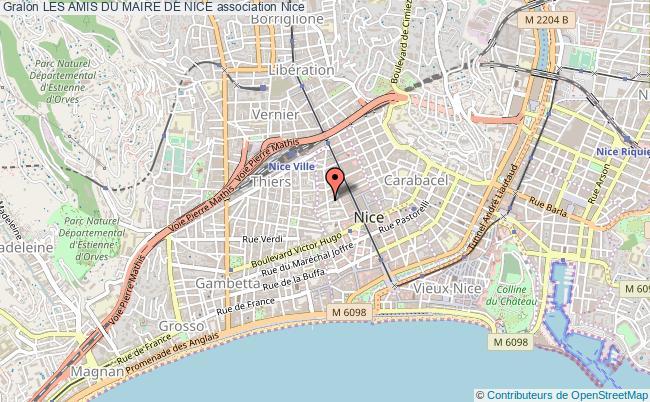 plan association Les Amis Du Maire De Nice
