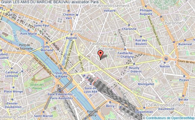 plan association Les Amis Du Marche Beauvau Paris