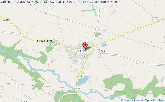 plan association Les Amis Du Musee Du Facteur Rural De Prissac Prissac