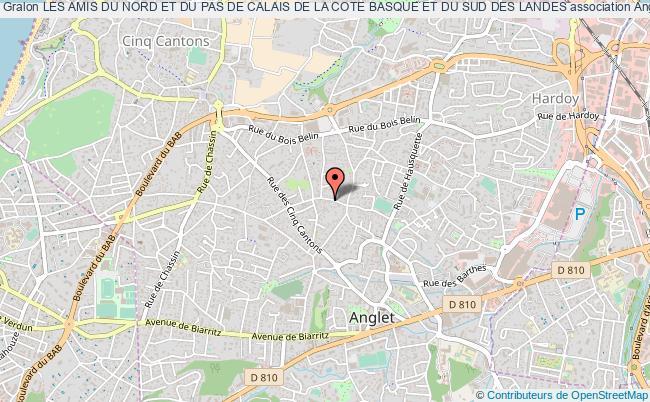 plan association Les Amis Du Nord Et Du Pas De Calais De La Cote Basque Et Du Sud Des Landes
