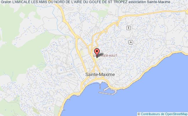 plan association Les Amis Du Nord (region Du Golfe Grimaud - Sainte-maxime - Saint-tropez)