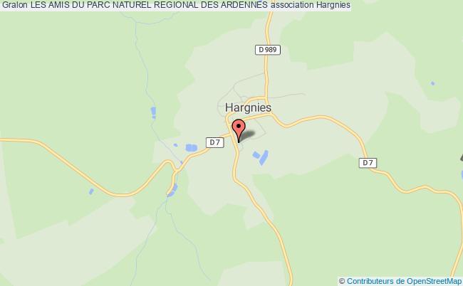 plan association Les Amis Du Parc Naturel Regional Des Ardennes