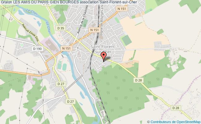 plan association Les Amis Du Paris Gien Bourges Saint-Florent-sur-Cher