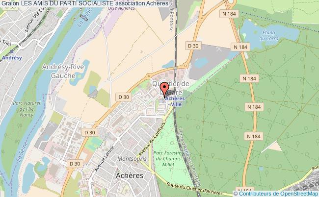 plan association Les Amis Du Parti Socialiste Achères