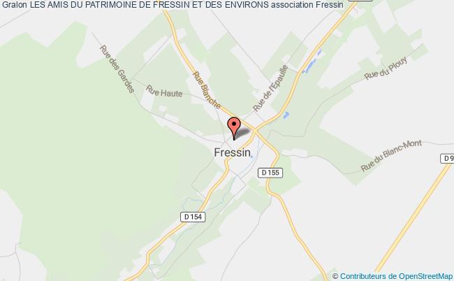 plan association Les Amis Du Patrimoine De Fressin Et Des Environs