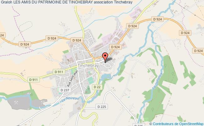 plan association Les Amis Du Patrimoine De Tinchebray Tinchebray