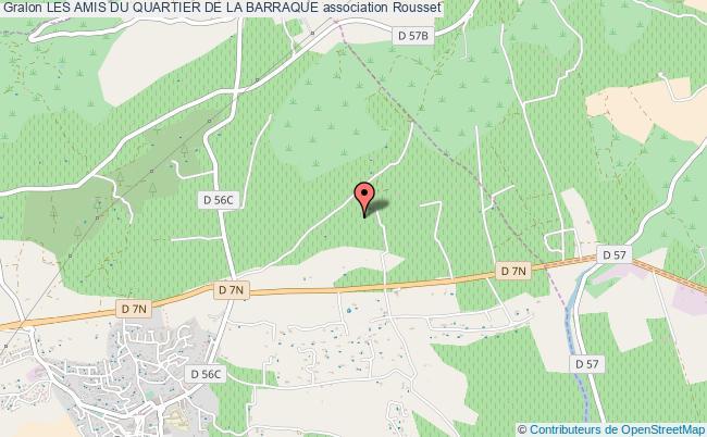 plan association Les Amis Du Quartier De La Barraque