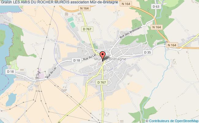 plan association Les Amis Du Rocher Murois Guerlédan