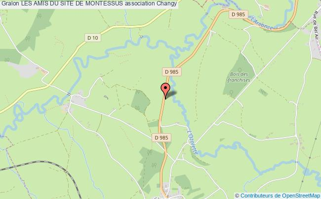 plan association Les Amis Du Site De Montessus Changy
