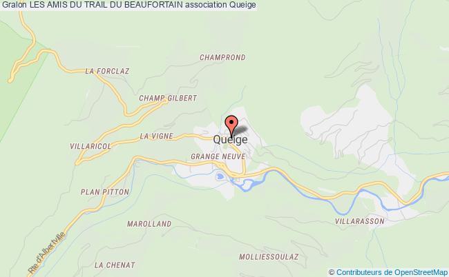 plan association Les Amis Du Trail Du Beaufortain