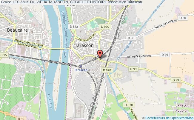 plan association Les Amis Du Vieux Tarascon, Societe D'histoire