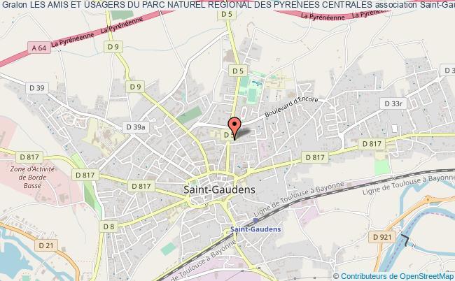 plan association Les Amis Et Usagers Du Parc Naturel Regional Des Pyrenees Centrales Saint-Gaudens