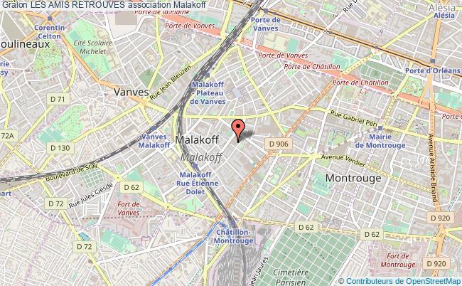 plan association Les Amis Retrouves Malakoff