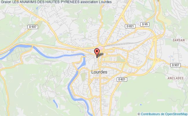 plan association Les Anawims Des Hautes Pyrenees