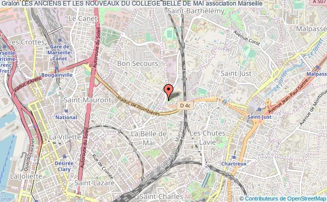 plan association Les Anciens Et Les Nouveaux Du College Belle De Mai Marseille