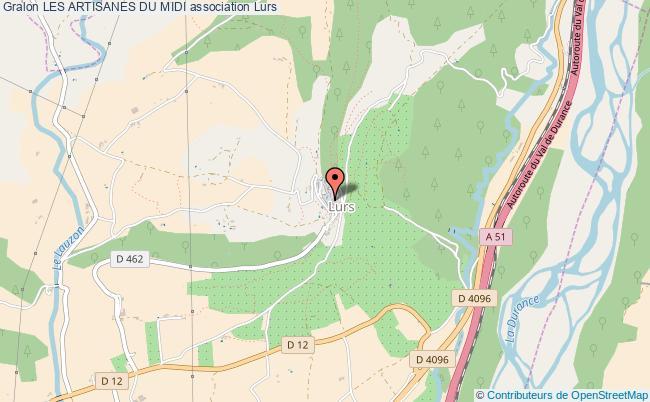 plan association Les Artisanes Du Midi