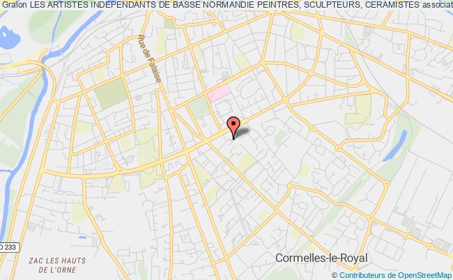 plan association Les Artistes Independants De Basse Normandie Peintres, Sculpteurs, Ceramistes