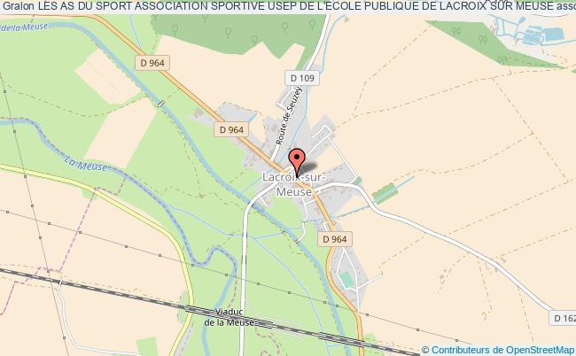 plan association Les As Du Sport Association Sportive Usep De L'ecole Publique De Lacroix Sur Meuse