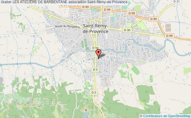 plan association Les Ateliers De Barbentane