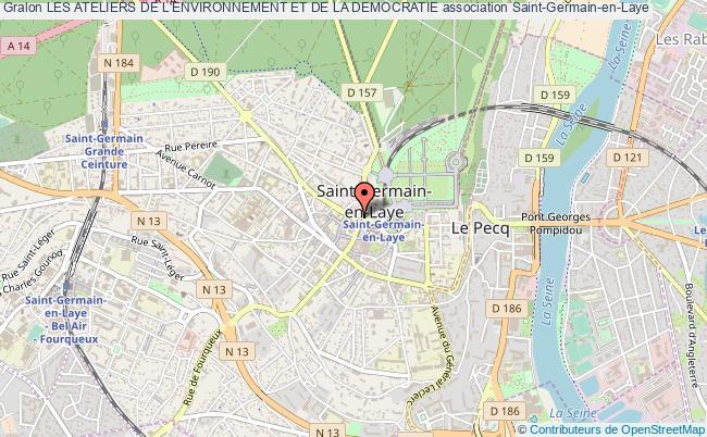 plan association Les Ateliers De L'environnement Et De La Democratie Saint-Germain-en-Laye