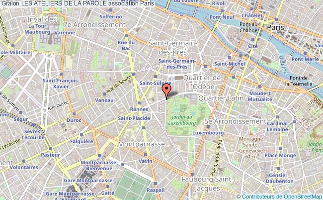 plan association Les Ateliers De La Parole Paris