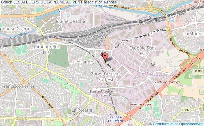 plan association Les Ateliers De La Plume Au Vent Rennes