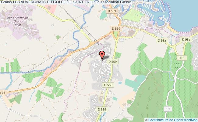 plan association Les Auvergnats Du Golfe De Saint Tropez Gassin