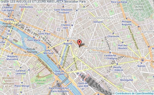 plan association Les Aveugles Et Leurs Amis Laela Paris