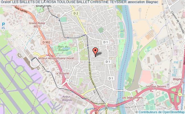 plan association Les Ballets De La Rosa Toulouse Ballet Christine Teyssier