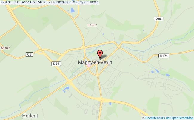 plan association Les Basses Tardent Magny-en-Vexin