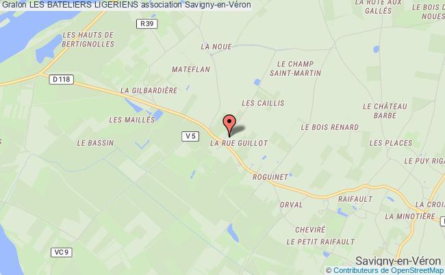 plan association Les Bateliers Ligeriens Savigny-en-Véron