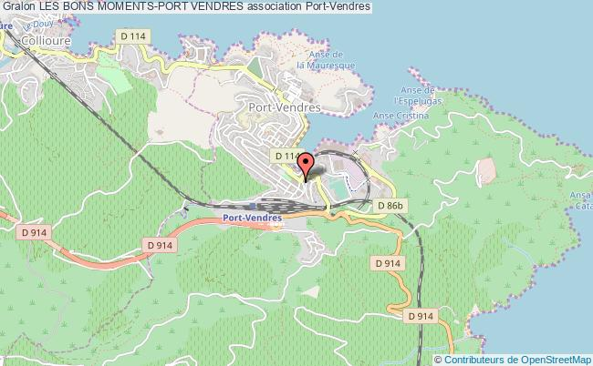 plan association Les Bons Moments-port Vendres