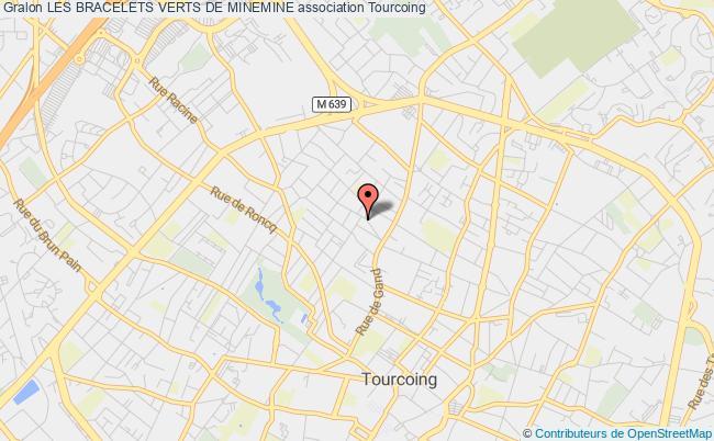 plan association Les Bracelets Verts De Minemine Tourcoing