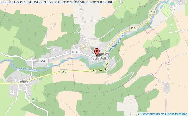 plan association Les Brodeuses Briardes Villeneuve-sur-Bellot