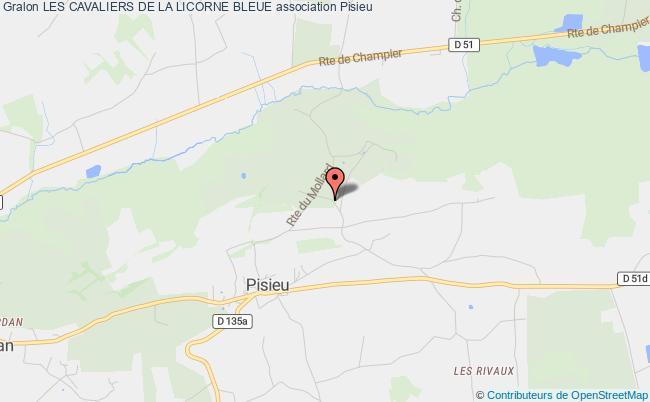 plan association Les Cavaliers De La Licorne Bleue Pisieu