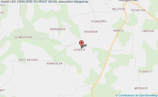 plan association Les Cavaliers Du Mont Segal Malguénac