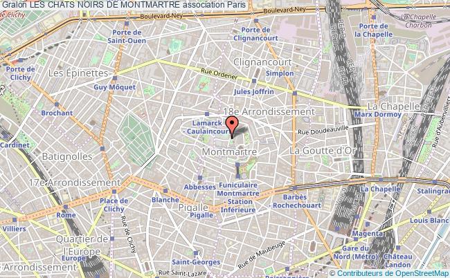 plan association Les Chats Noirs De Montmartre
