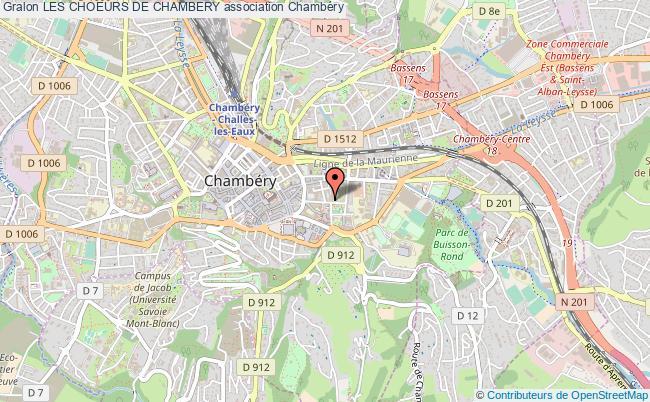 plan association Les Choeurs De Chambery