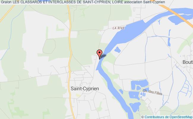 plan association Les Classards Et Interclasses De Saint-cyprien, Loire Saint-Cyprien