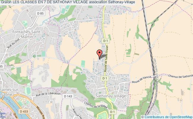 plan association Les Classes En 7 De Sathonay Village