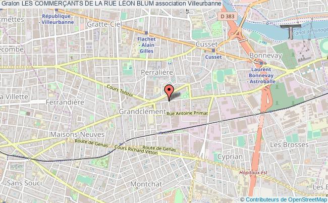 plan association Les CommerÇants De La Rue LÉon Blum