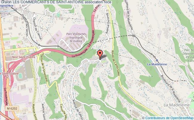 plan association Les Commercants De Saint-antoine Nice
