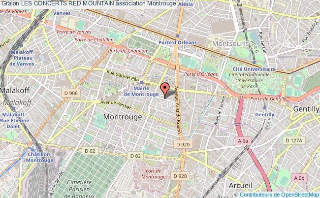 plan association Les Concerts Red Mountain Montrouge