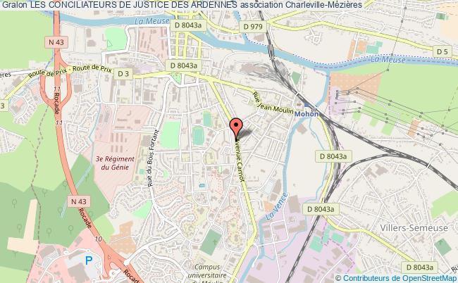 plan association Les Conciliateurs De Justice Des Ardennes