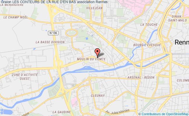 plan association Les Conteurs De La Rue D'en Bas Rennes